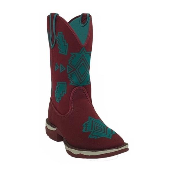 Laredo Western Boots Womens Scorcher Woven Lightweight Burgundy