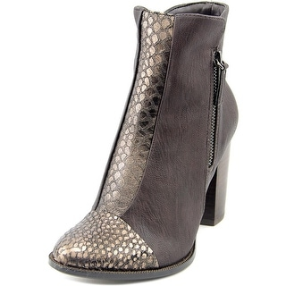 Nina Clip Women Round Toe Synthetic Brown Ankle Boot