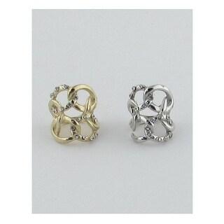 Bold knot ring w/rhinestones