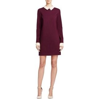 Cynthia Steffe Womens Wear to Work Dress Ponte Knit Purple 2