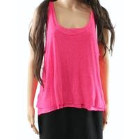 Abound Pink Women's Size Large L Tank Cami Scoop-Neck Layered Blouse