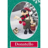 "10.5"" Zims The Elves Themselves Donatello Collectible Christmas Elf Figure"