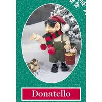 "10.5"" Zims The Elves Themselves Donatello Collectible Christmas Elf Figure - multi"
