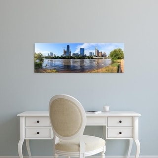 Easy Art Prints Panoramic Images's 'Buildings in downtown Austin, Texas, USA' Premium Canvas Art
