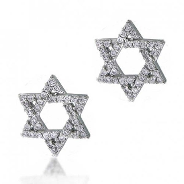 2663918a3 Shop Hanukah Open Star Of David Religious Jewish Pave CZ Cubic Zirconia  Stud Earrings For Women 925 Sterling Silver - On Sale - Free Shipping On  Orders Over ...