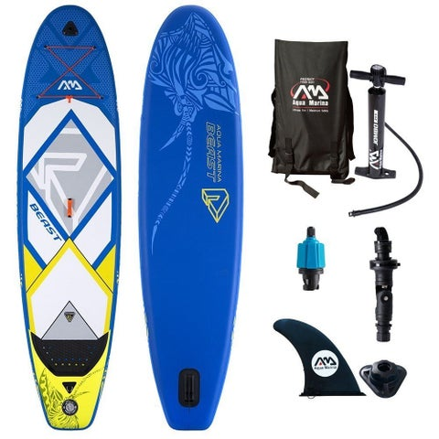 "Aqua Marina Beast Inflatable Stand-up Paddle Board & Acc. 10-6"" L x 32"" W x 6"" D"