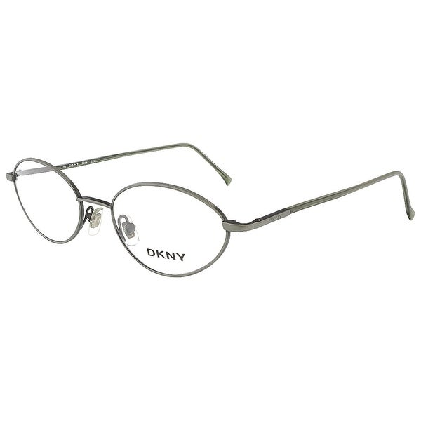 2660773a1 Shop DKNY 6218 315 Brushed Green Oval Opticals - 50-18-140 - Free ...