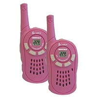 Cobra CX130A MicroTalk 16-Mile 2-Way Walkie Talkie Radios Pink Manufacturer Refurbished