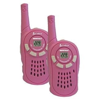 Cobra CX130A MicroTalk 16-Mile 2-Way Walkie Talkie Radios Pink Manufacturer Refurbished