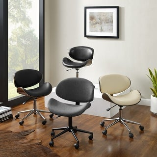 Link to Madonna Mid-century Adjustable Office Chair by Corvus Similar Items in Home Office Furniture