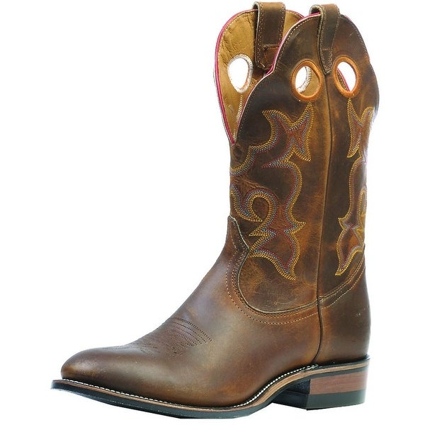 5745b846bf8 Boulet Western Boots Men Cowboy Leather Roper Laid Back Tan Spice 0