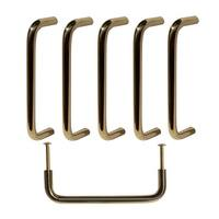 6 Cabinet Pulls Bright Solid Brass Classic  | Renovator's Supply