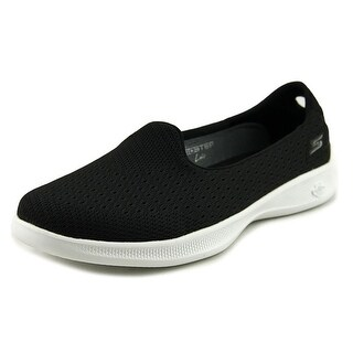 Skechers Go Step Lite Origin Women  Round Toe Canvas Black Walking Shoe