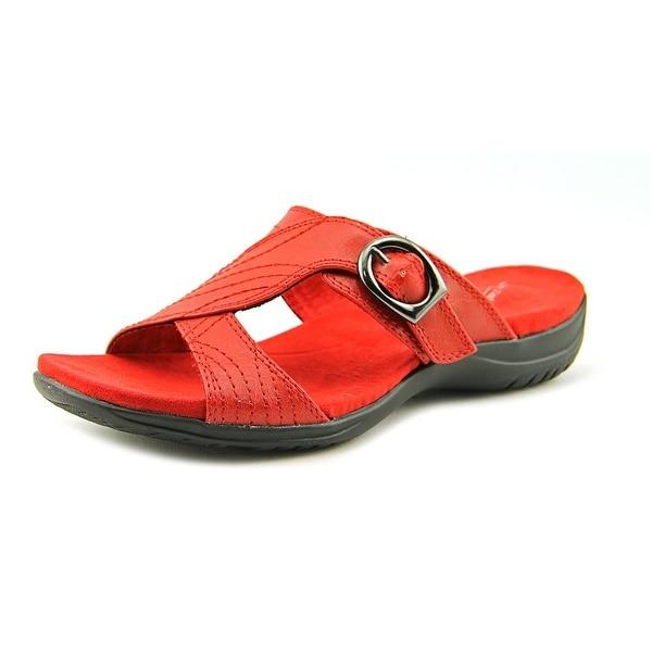 Easy Street Drama WW Open Toe Synthetic Slides Sandal