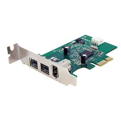 Startech 3 Port 2B 1A Low Profile 1394 Pci Express Firewire Card Adapter Pex1394b3lp