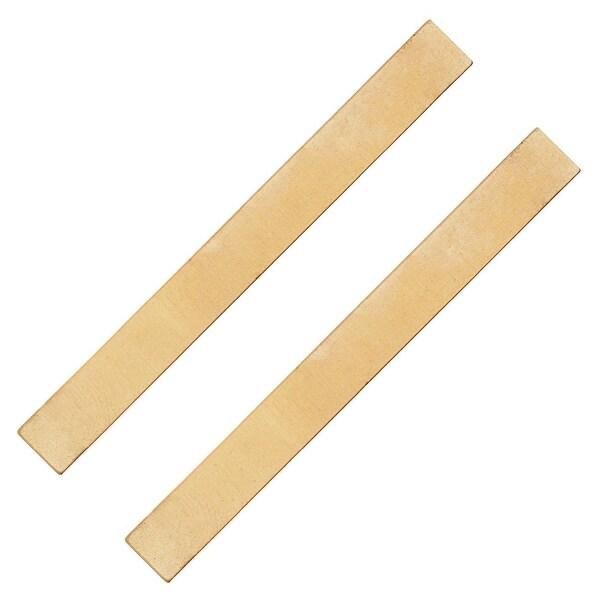Lightweight Brass Stamping, Long Blank Rectangle Bar 62x7x0.5mm, 2 Pieces, Brass