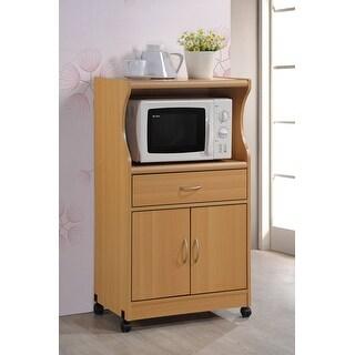 Hodedah Hik77 Beech Microwave Cart