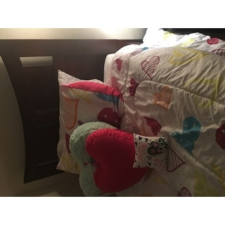 Cotton Heart Pillow With Shirred Side Band