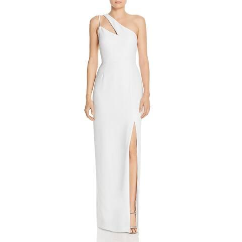 Laundry by Shelli Segal Womens Evening Dress One Shoulder Side Slit