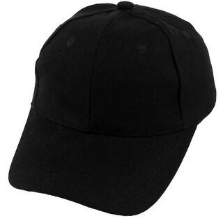 Unisex Cotton Blends Adjustable Summer Sports Golf Baseball Cap Hat Visor Black