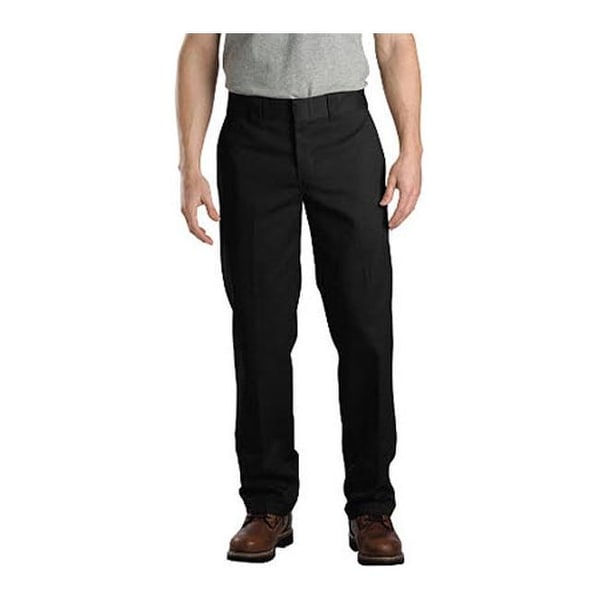 "Dickies Men's Slim Straight Fit Work Pant 32"" Inseam Black"