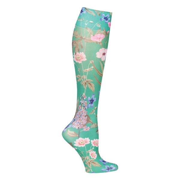 Shop Celeste Stein Moderate Compression Knee High Stockings Wide Calf Green Morona Medium