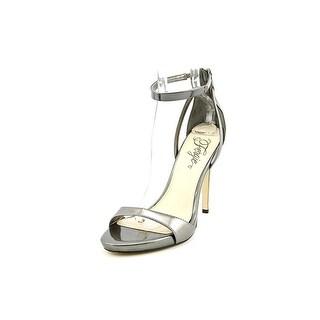 Fergie Reign Women Open Toe Synthetic Silver Sandals
