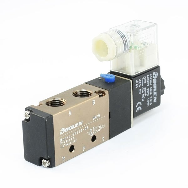 Industrial Equip Part 2 Position 5 Ways Solenoid Valve AC 220V