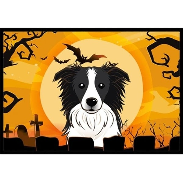 Carolines Treasures BB1799JMAT Halloween Border Collie Indoor & Outdoor Mat 24 x 36 in.