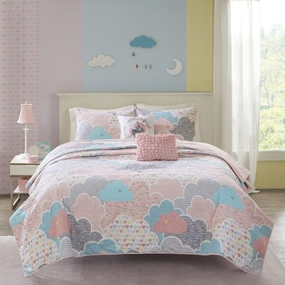 Link to Urban Habitat Kids Bliss Pink Cotton Printed 5-piece Coverlet Set Similar Items in Kids Quilts & Coverlets