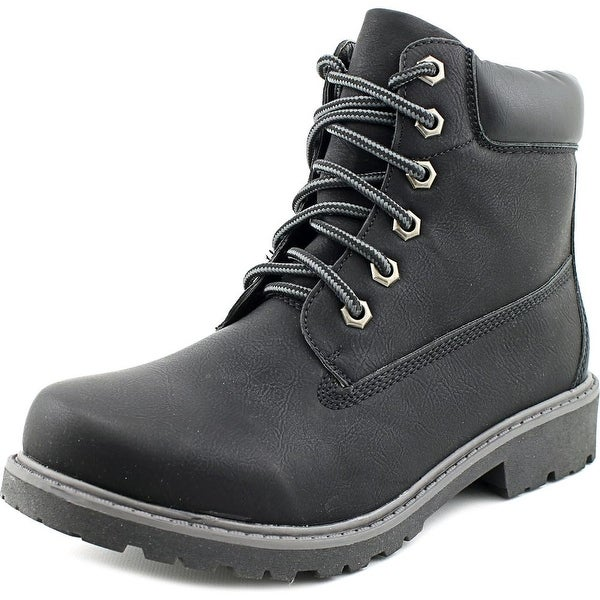 Daily Shoes Rock-01 Black Boots