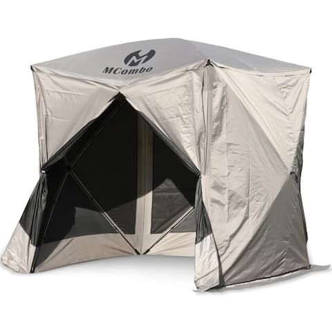 Mcombo Gazebo Tent Pop-Up Portable 4-Sided Hub Durable Screen Tent (3-5 Person) 6052-C1024-4PC