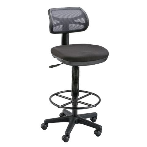 Alvin dc710-40 griffin black drafting height chair