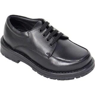 Schoolmates Boys' SM118 Oxford Black Leather