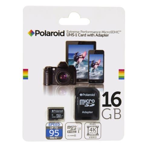 Polaroid 16 GB U3 Micro SDHC Class 10 UHS-1 Memory Card with Adapter