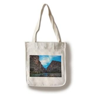 Big Bend Park TX Rio Grande River - LP Photography (100 Canvas Tote Bag Gusset