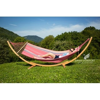 swan  fort extra heavy duty swing cotton hammock swan  fort extra heavy duty swing cotton hammock   free shipping      rh   overstock