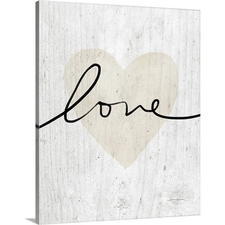 """Love on Wood"" Canvas Wall Art"