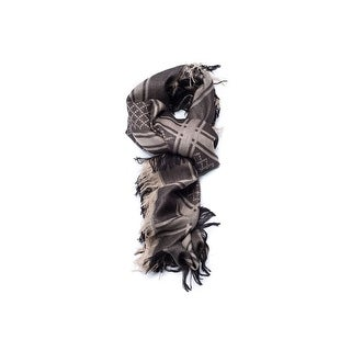Gucci Women's Two Tone Brown Metallic GG Pattern Shawl Scarf