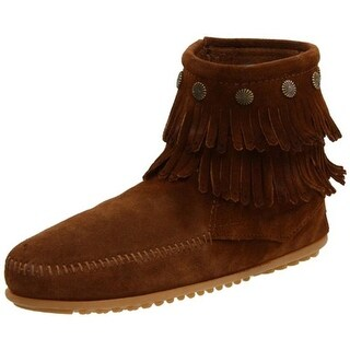 Minnetonka Womens Ankle Boots Suede Fringe - 7 medium (b,m)