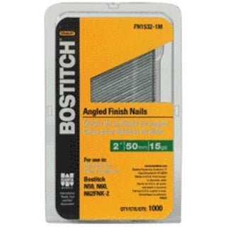 "Bostitch FN1524-1MSS Stainless Steel Finish Nail, 1.5"", 1m."