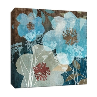 "PTM Images 9-146752  PTM Canvas Collection 12"" x 12"" - ""Indigo Garden I"" Giclee Flowers Art Print on Canvas"
