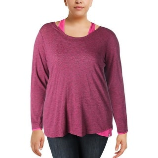 Marc New York Womens Pullover Top Yoga Cold Shoulder