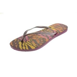 Havaianas Womens Animal Thong Sandals Slide Flip-Flops