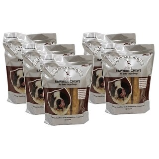 Tartar Shield Soft Rawhide Chews for Extra Large Dogs 12 Count 5 Pack