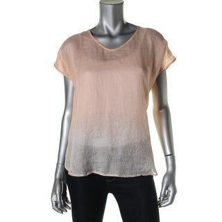Eileen Fisher Womens Ombre Printed Pullover Top