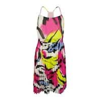 INC International Concepts Women's Pleated Sleeveless Dress - vivid sky