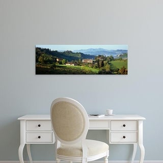 Easy Art Prints Panoramic Images's 'Houses on a landscape, Marches, Italy' Premium Canvas Art