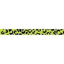 """Green Leopard - Dollar Ribbon .375""""X4'"""