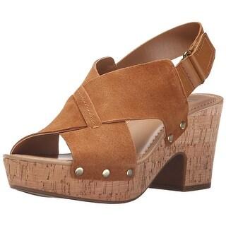 Franco Sarto Womens L-Kicks Open Toe Casual Platform Sandals